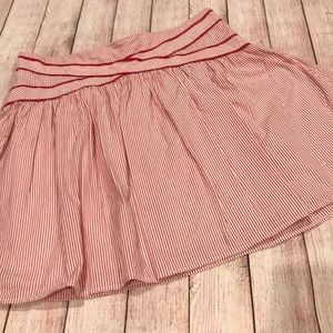 Viola Anthropologie red striped skirt size 14
